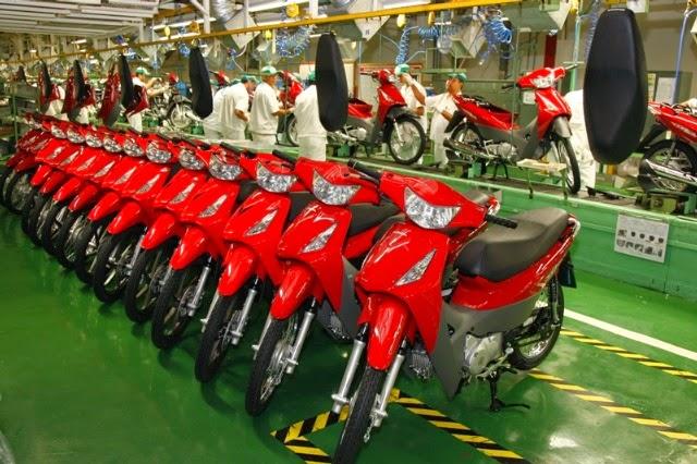 Fábrica da Honda Motos na Amazônia, quando estava em funcionamento