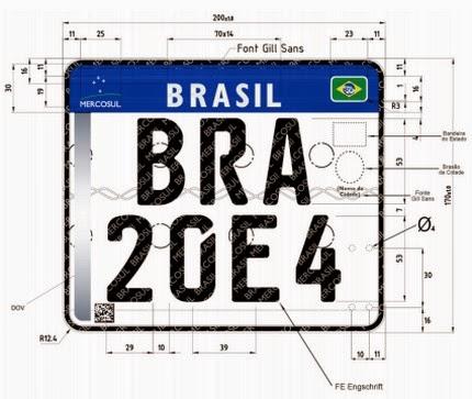 Contran prorroga prazo para adoção de placas no padrão Mercosul. Novas placas somente em 2017.