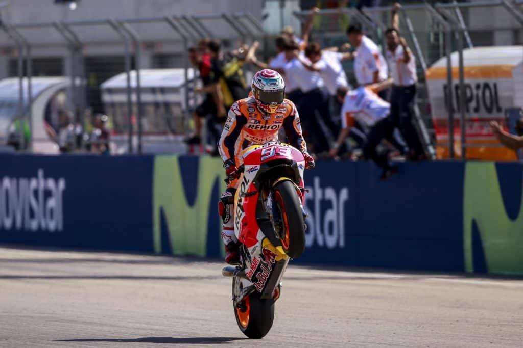 Marc Márquez vence o MotoGP de Aragão na Espanha