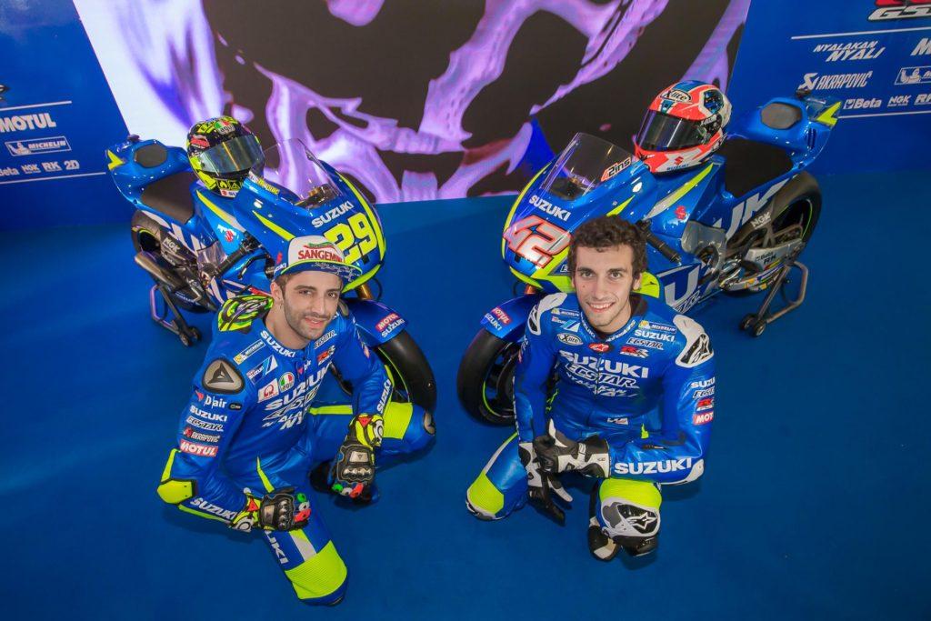 Andrea Iannone e Alex Rins - os pilotos da Suzuki