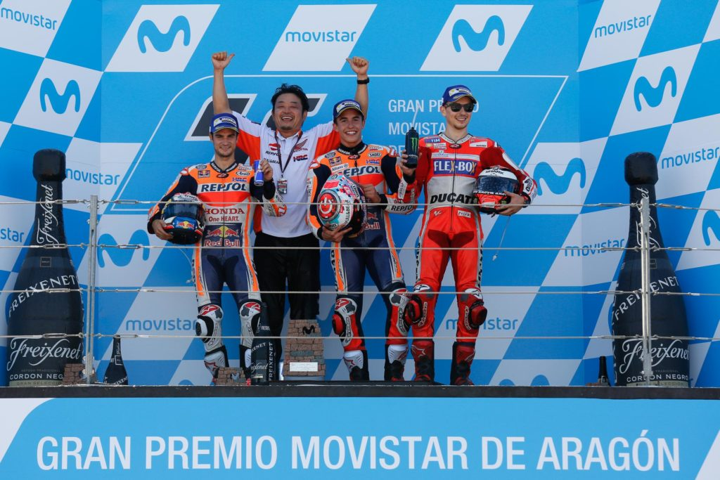 Trio espanhol vencendo em casa: Márquez, Pedrosa e Lorenzo.