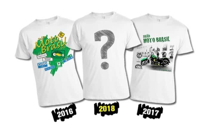 Concurso elegerá camiseta oficial do Salão Moto Brasil 2018