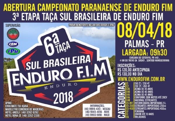 Esquentam os motores para a abertura do Paranaense de Enduro FIM 2018