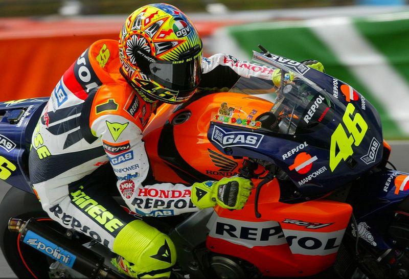 Valentino Rossi trocava a Honda (foto) pela Yamaha, no último ano de MotoGP no Brasil