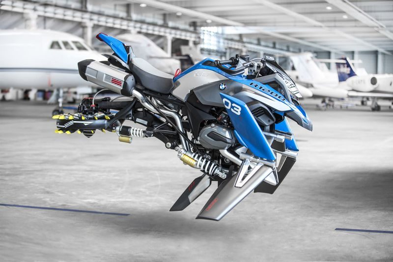 BMW Hover Ride Design Concept: uma maxi trail voadora