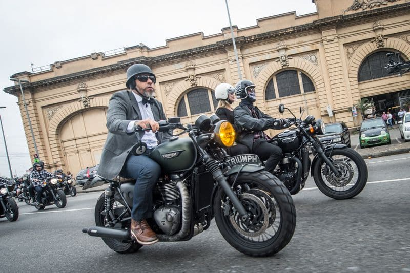 O Chef Henrique Fogaça no Distinguished Gentlemans Ride em 2018