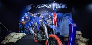 Yamaha Lander 250 inspirada no Capitão America Foto: Salão Duas Rodas