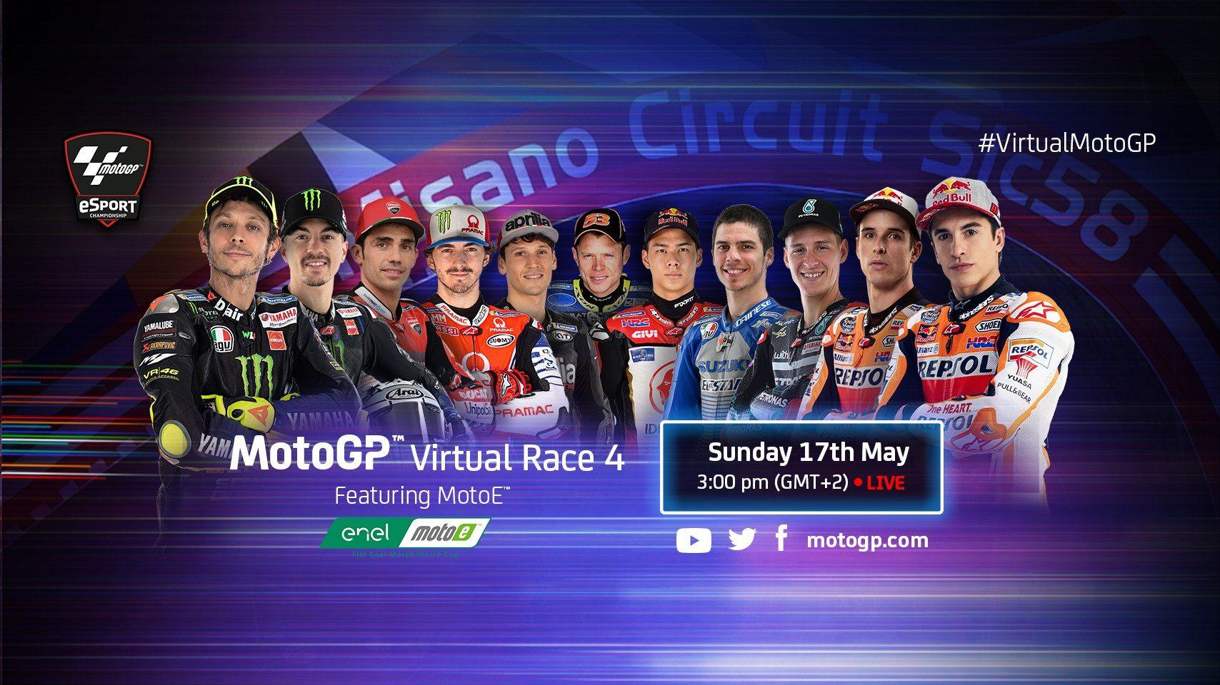 Chamada da MotoGP para o Virtual MotoGP 4