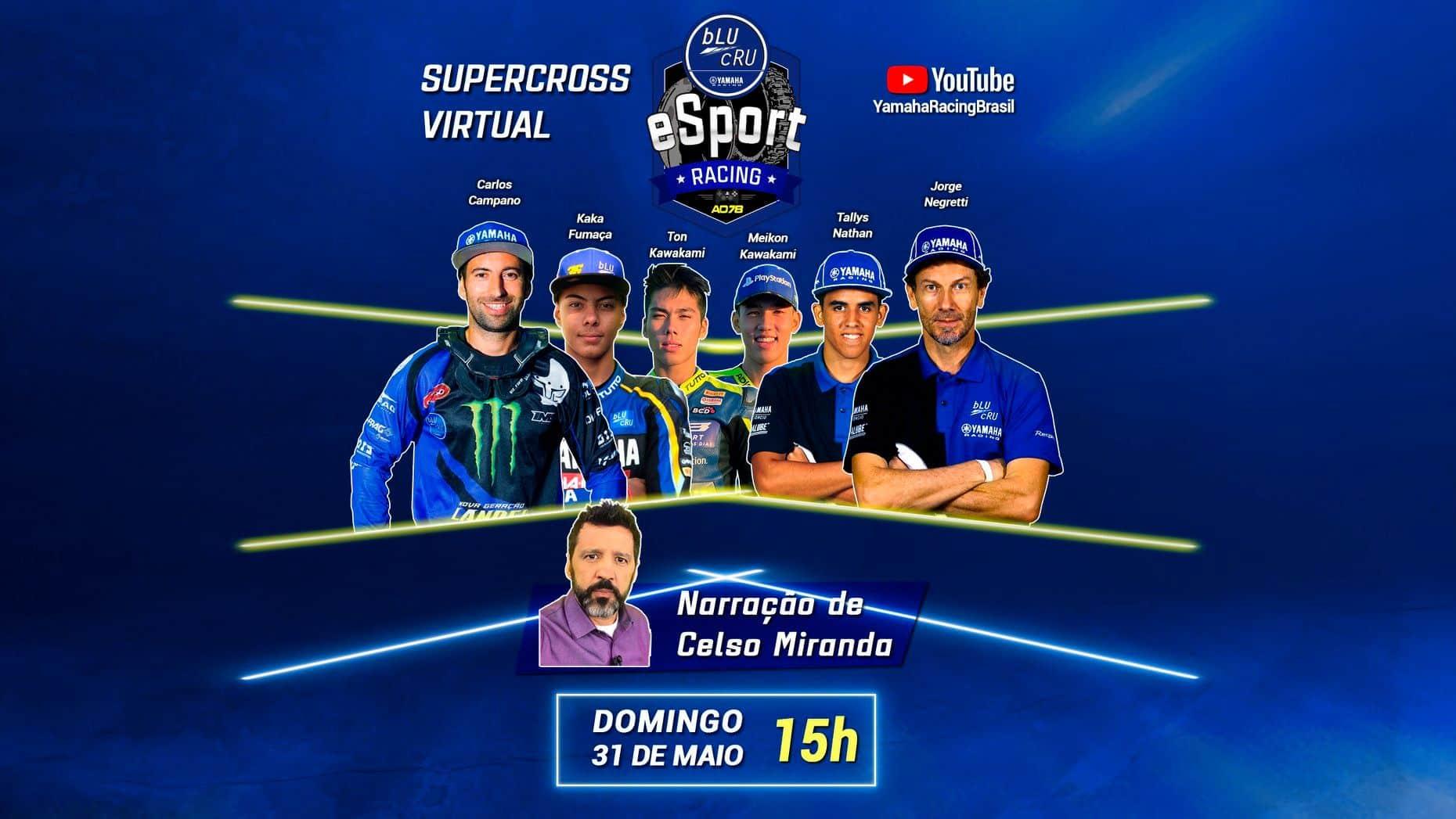 Uma corrida virtual com pilotos Yamaha vai aquecer a volta do AMA Supercross 2020! Assista aos pegas no YouTube a partir das 15h de domingo, dia 31!