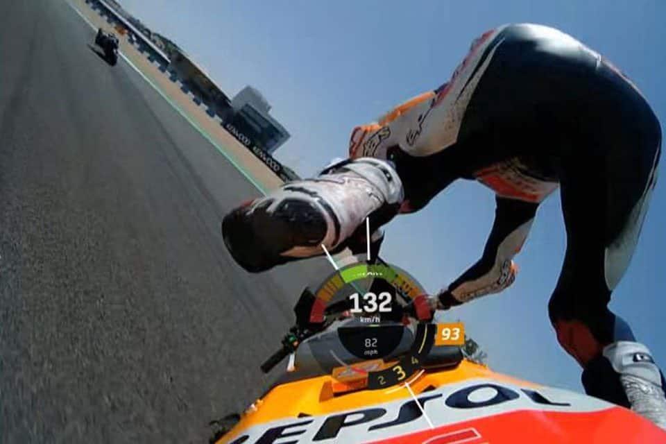 """Marquez foi """"ejetado"""" de sua moto no momento do acidente."""
