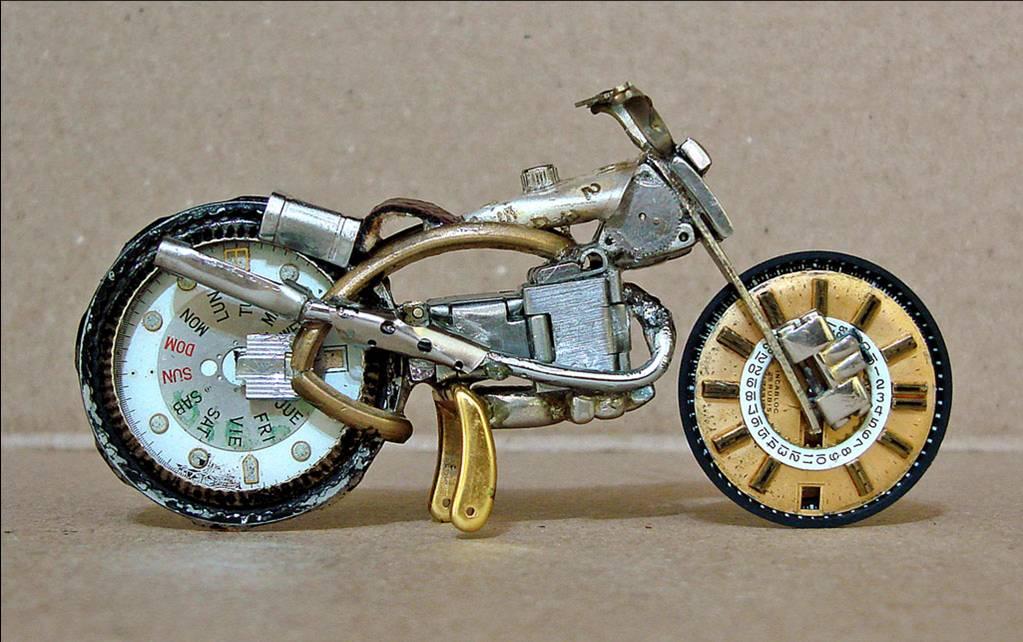 miniaturas de motos Ze Pfau