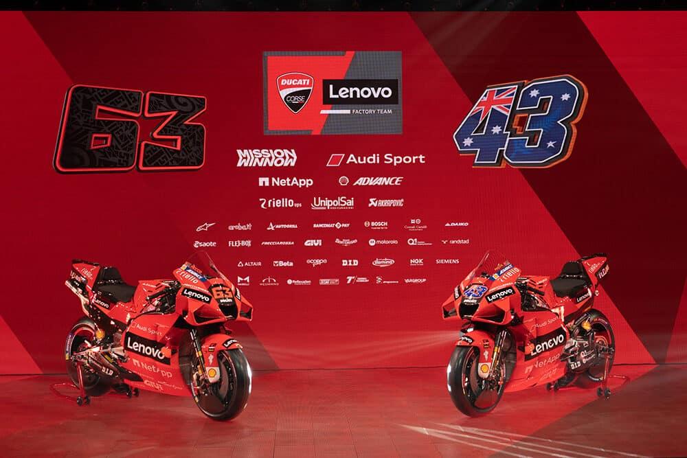 MotoGP: Ducati apresenta a nova equipe e parceria com a Lenovo